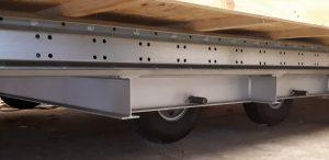 Châssis galvanisé double essieux