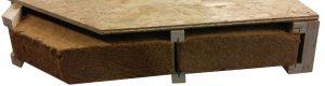 Plancher caisson - isolation fibre de bois